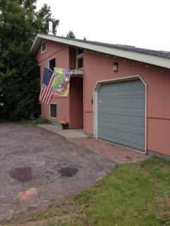 Attached garage.