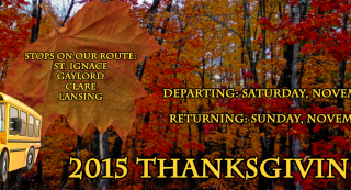 USG Thanksgiving Bus Banner